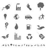 Conjunto del icono de Eco Fotografía de archivo libre de regalías