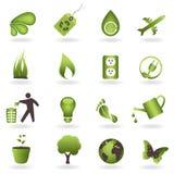 Conjunto del icono de Eco Imagenes de archivo