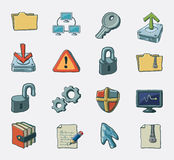Conjunto del icono de Interet libre illustration