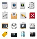 Conjunto del icono de la administración del servidor de archivos del vector Fotografía de archivo