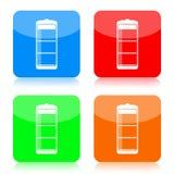 Conjunto del icono de la batería libre illustration