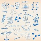 Conjunto del icono de la ciencia Fotografía de archivo