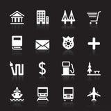 Conjunto del icono de la ciudad Imagen de archivo libre de regalías