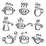 Conjunto del icono de la comida Fotografía de archivo libre de regalías