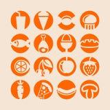 Conjunto del icono de la comida Imagen de archivo libre de regalías