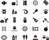 Conjunto del icono de la comida stock de ilustración