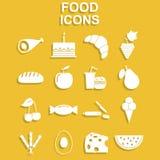 Conjunto del icono de la comida Foto de archivo