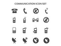 Conjunto del icono de la comunicación Fotos de archivo libres de regalías