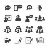 Conjunto del icono de la comunicación ilustración del vector
