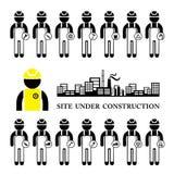 Conjunto del icono de la construcción Imagen de archivo libre de regalías