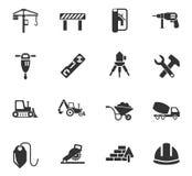 Conjunto del icono de la construcción Imagenes de archivo