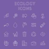 Conjunto del icono de la ecología Imágenes de archivo libres de regalías