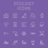Conjunto del icono de la ecología Imagen de archivo libre de regalías