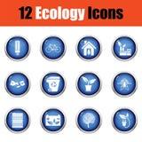 Conjunto del icono de la ecología Foto de archivo