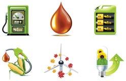 Conjunto del icono de la ecología del vector. Parte 1 ilustración del vector
