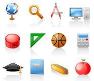 Conjunto del icono de la educación Fotos de archivo libres de regalías