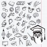 Conjunto del icono de la educación Fotos de archivo