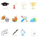 Conjunto del icono de la educación Imágenes de archivo libres de regalías