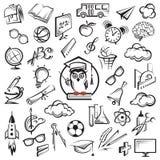 Conjunto del icono de la educación Fotografía de archivo