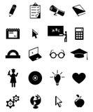 Conjunto del icono de la educación Imagenes de archivo
