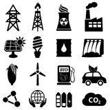 Conjunto del icono de la energía Imágenes de archivo libres de regalías