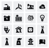 Conjunto del icono de la energ Imágenes de archivo libres de regalías