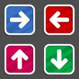 Conjunto del icono de la flecha Imagenes de archivo