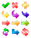 Conjunto del icono de la flecha Imagen de archivo libre de regalías
