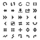 Conjunto del icono de la flecha Imágenes de archivo libres de regalías