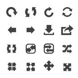 Conjunto del icono de la flecha Foto de archivo