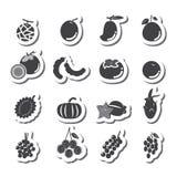 Conjunto del icono de la fruta Imagen de archivo