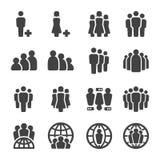 Conjunto del icono de la gente ilustración del vector