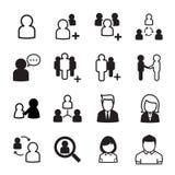 Conjunto del icono de la gente Fotos de archivo libres de regalías