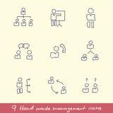 Conjunto del icono de la gesti?n Fotos de archivo libres de regalías