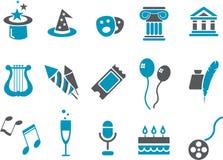 Conjunto del icono de la hospitalidad stock de ilustración