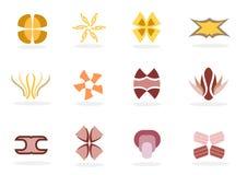 Conjunto del icono de la insignia Foto de archivo libre de regalías