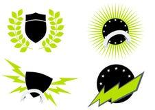 Conjunto del icono de la insignia Fotografía de archivo