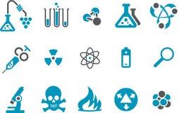 Conjunto del icono de la investigación Imágenes de archivo libres de regalías