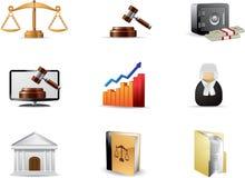 Conjunto del icono de la ley Fotos de archivo libres de regalías