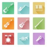 Conjunto del icono de la música Foto de archivo