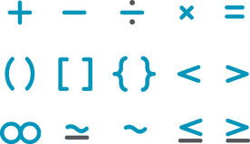 Conjunto del icono de la matemáticas Imagen de archivo