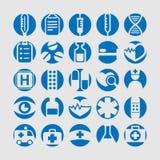 Conjunto del icono de la medicina Imagen de archivo libre de regalías