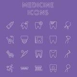 Conjunto del icono de la medicina Fotos de archivo libres de regalías