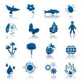 Conjunto del icono de la naturaleza Libre Illustration