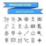 Conjunto del icono de la navegación Fotografía de archivo libre de regalías