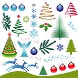 Conjunto del icono de la Navidad Imagenes de archivo