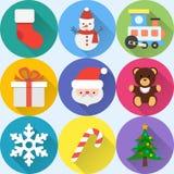 Conjunto del icono de la Navidad Foto de archivo libre de regalías
