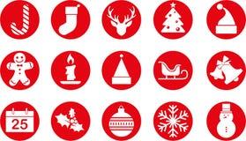 Conjunto del icono de la Navidad Foto de archivo