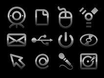 Conjunto del icono de la PC del vector Imágenes de archivo libres de regalías