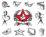 Conjunto del icono de la película Fotografía de archivo libre de regalías